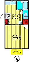 メゾンドヒラヤマA・B[A-101号室]の間取り