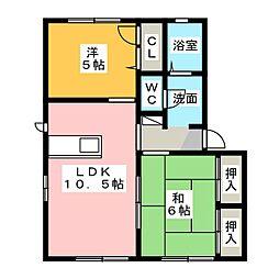 バリュージュ桜台[1階]の間取り
