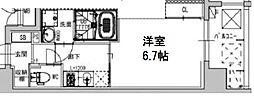 ファーストフィオーレ本町イースト 2階1Kの間取り