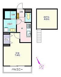 パレットハウス[2階]の間取り