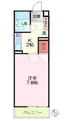 メゾン・カネト[1階]の間取り