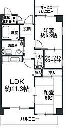 大阪府大阪市平野区加美正覚寺4丁目の賃貸マンションの間取り