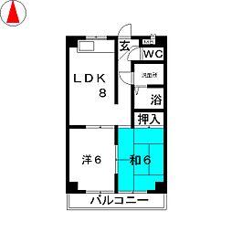 ストーク横地[4階]の間取り