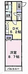 ライズ・イン ハウス[304号室]の間取り