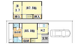 [テラスハウス] 兵庫県姫路市大塩町 の賃貸【/】の間取り