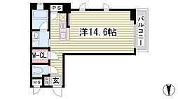 KAISEI神戸北野町 1階ワンルームの間取り