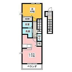 クリムソン70II[2階]の間取り