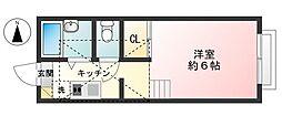 タウンコート・ジュネス千住[1階]の間取り