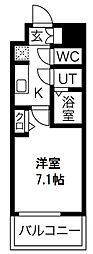 プレサンス京町堀 3階1Kの間取り