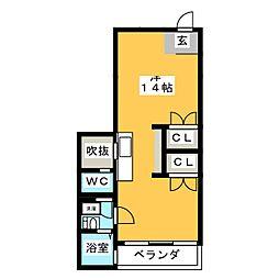 エフ・シャープ[2階]の間取り