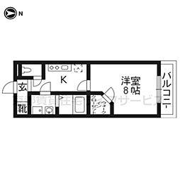 UniE'terna京都壬生[403号室]の間取り