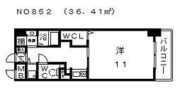 コード ナチュレ[6階]の間取り