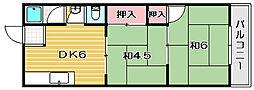 平和マンション[2階]の間取り