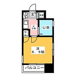 ダイナコート大博通り[11階]の間取り