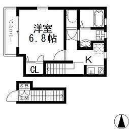 メゾン・ソレイユ長栄寺[202号室号室]の間取り
