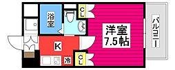 エルスタンザ広瀬通RESIDENCE 4階1Kの間取り