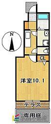 SUN HEIME M&H III[1階]の間取り