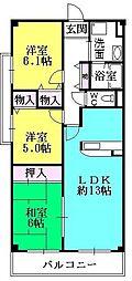 リーヴ香櫨園[2階]の間取り