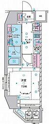 ジェノヴィア麻布十番グリーンヴェール 3階1Kの間取り