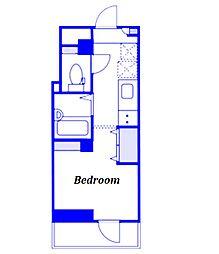 JR京浜東北・根岸線 西川口駅 徒歩1分の賃貸マンション 3階1Kの間取り