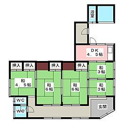 [一戸建] 三重県伊勢市中島1丁目 の賃貸【/】の間取り