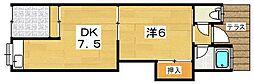 [テラスハウス] 大阪府枚方市西牧野2丁目 の賃貸【大阪府 / 枚方市】の間取り