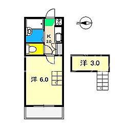 シンフォニィ(中水道)[1階]の間取り