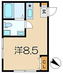 プランドール横濱[1階]の間取り