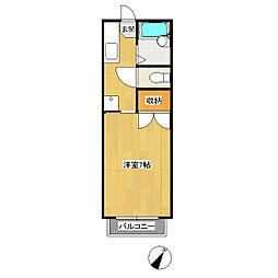 ハイツアズマIII[2階]の間取り