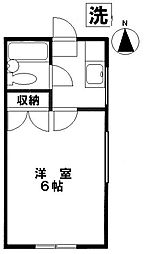 塩田コーポ[2階]の間取り