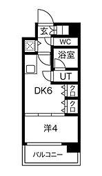 Osaka Metro御堂筋線 本町駅 徒歩5分の賃貸マンション 10階1DKの間取り