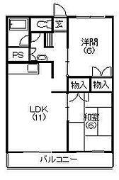 ビレッタ蜆塚S[1階]の間取り
