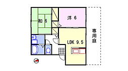 エスペランサ姫路[101号室]の間取り