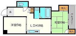 第3カワイハイツ[3階]の間取り
