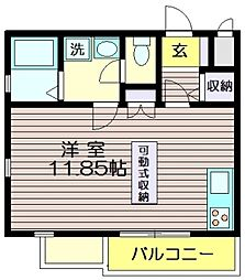 東京都世田谷区粕谷3丁目の賃貸マンションの間取り
