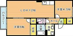セジュール日吉台[2階]の間取り