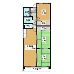 スカイガーデン和合I[5階]の間取り