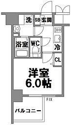 エスリード新大阪グランファースト[9階]の間取り