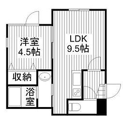 カーサミアI[1階]の間取り