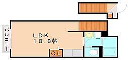 福岡県飯塚市相田の賃貸アパートの間取り