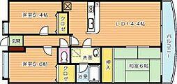 ハイツ高松II[5階]の間取り