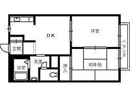 タウニィーイシヅ[101号室]の間取り