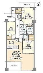 JR京浜東北・根岸線 大井町駅 徒歩8分の賃貸マンション 3階3LDKの間取り