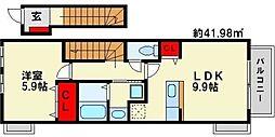 ハウス遠賀野 B棟[2階]の間取り