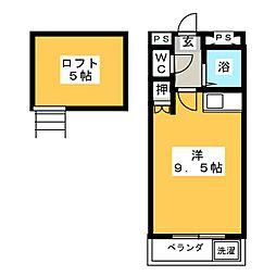 コーポイーストB棟[2階]の間取り