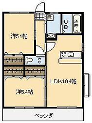 S・DOLCE[2階]の間取り
