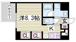 アスヴェル神戸駅前[8階]の間取り