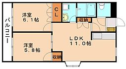 ウルノアパートメントハウス805[1階]の間取り