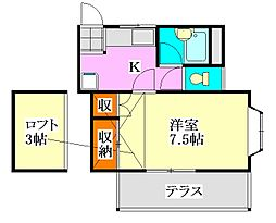 poko'sハウス[105号室]の間取り