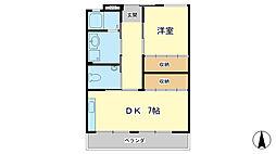 オーリョクビル[2階]の間取り